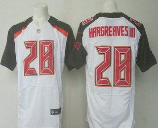 mens tampa bay buccaneers 28 vernon hargreaves iii white road nfl nike elite jersey