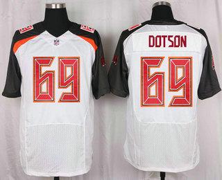the best attitude b0017 c0d28 Men's Tampa Bay Buccaneers #69 Demar Dotson White Road NFL ...