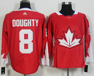 Men's Team Canada #6 Shea Weber Red 2016 World Cup of Hockey Game Jersey