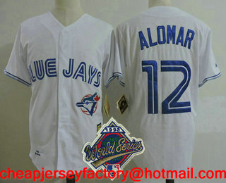 d0d274d36 ... mlb jersey  mens toronto blue jays 12 roberto alomar white 1993 world  series patch throwback cooperstown collect