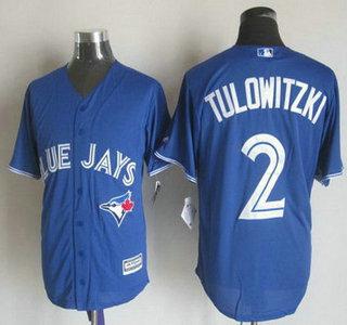 9ad9b3be3 ... Mens Toronto Blue Jays 2 Troy Tulowitzki Alternate Blue 2015 MLB Cool  Base Jersey ...