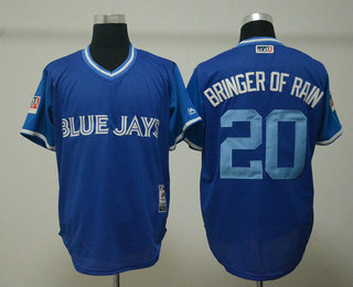 low priced fd95d e788c Men's Toronto Blue Jays #20 Josh Donaldson Bringer of Rain ...