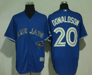 97776f6d8 Men s Toronto Blue Jays  20 Josh Donaldson Royal Blue With Handwork Sequin  Fashion Blue Jays Logo Stitched MLB Cool Base MLB Jersey
