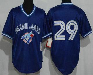 super popular 48841 06f9b Men's Toronto Blue Jays #29 Joe Carter Royal Blue Mesh ...