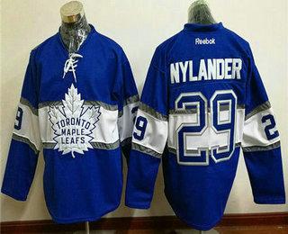 Men s Toronto Maple Leafs  29 William Nylander Reebok Blue 2017 Centennial Classic  Premier Player Hockey 06ff902b2