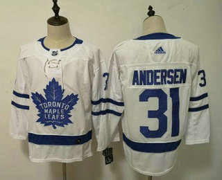 buy popular aa220 38d7c Men's Toronto Maple Leafs #31 Frederik Andersen White 2017 ...