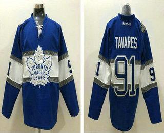 100% authentic 8a4fb e21b0 Men's Toronto Maple Leafs #91 John Tavares Reebok Blue 2017 ...
