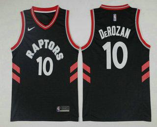 Men's Toronto Raptors #10 DeMar DeRozan 2017-18 Nike Black Swingman Stitched NBA Jersey