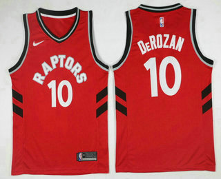 73df0ac37b6 Men s Toronto Raptors  10 DeMar DeRozan Red 2017-2018 Nike Icon Edition  Swingman Jersey
