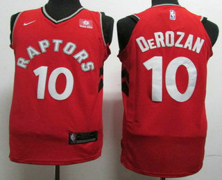bda2f8188 Men s Toronto Raptors  10 DeMar DeRozan Red 2017-2018 Nike Swingman Sun  Life Stitched NBA Jersey