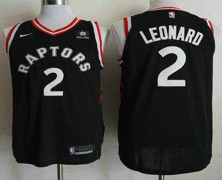 eea33ad3940 Men s Toronto Raptors  2 Kawhi Leonard Black 2018 Nike Authentic Sun Life  Stitched NBA Jersey