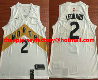 700ffae6e586 Men s Toronto Raptors  2 Kawhi Leonard New White 2019 City Edition NBA  Swingman Jersey