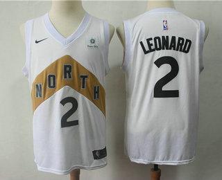 aaab0866ccd Men's Toronto Raptors #2 Kawhi Leonard New White 2019 City Edition NBA  Swingman Sun Life Jersey