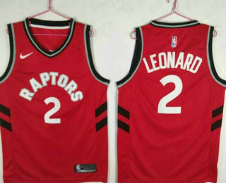 601163ff987 Men's Toronto Raptors #2 Kawhi Leonard Red 2018 Nike Swingman Stitched NBA  Jersey