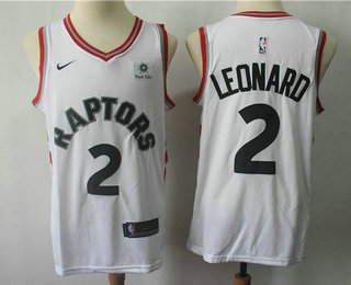Men s Toronto Raptors  2 Kawhi Leonard White 2018 Nike Swingman Sun Life  Stitched NBA Jersey d23adee7b