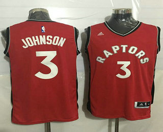 27a996c9d6d Men's Toronto Raptors #3 James Johnson Revolution 30 Swingman New Red Jersey