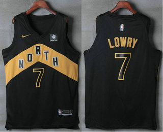 d872f2224 Men s Toronto Raptors  7 Kyle Lowry Black Nike 2017-2018 NBA Swingman City  Edition Jersey