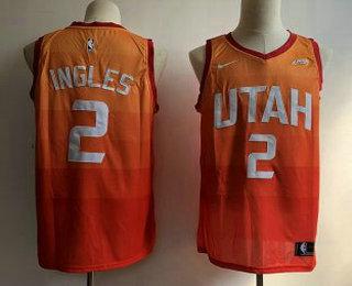 ce0615cec Men s Utah Jazz  2 Joe Ingles 2017-2018 City Edition 5 For The Fight Orange  Nike Swingman Jersey