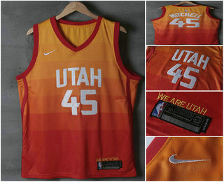 los angeles a0634 eced5 mens nike utah jazz city edition orange swingman custom jersey