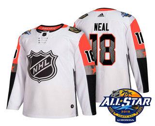 the latest 66869 945d7 Men's Vegas Golden Knights #18 James Neal White 2018 NHL All ...