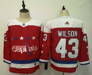 b6bb52eb1 Men s Washington Capitals  43 Tom Wilson NEW Red 2019 Stitched NHL Hockey  Jersey