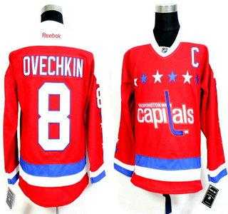 c3d7dd468 release date mens washington capitals 8 alex ovechkin red third reebok  hockey jersey b2229 d0c8e