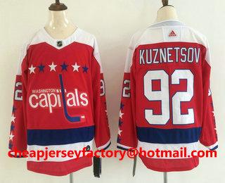 low priced 1cc57 c757a Men's Washington Capitals #92 Evgeny Kuznetsov NEW Red 2019 ...