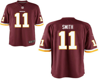 058eccf871d Men s Washington Redskins  11 Alex Smith Burgundy Red Team Color Stitched  NFL Nike Elite Jersey