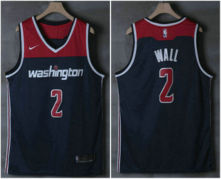 198210d9d ... City Edition Authentic Jersey   21. Men s Washington Wizards  2 John  Wall Navy Blue 2017-2018 Nike Swingman Stitched NBA