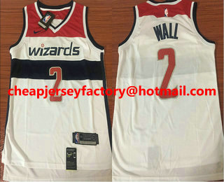 best loved a85fa 2d138 Men's Washington Wizards #2 John Wall Red 2017-2018 Nike ...