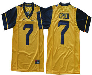 jersey mens west virginia mountaineers 7 will grier yellow limited college  football stitched nike ncaa jers 9b10888d7