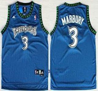 minnesota timberwolves 3 stephon marbury blue swingman jersey