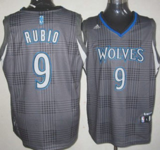 080dff456af Minnesota Timberwolves 9 Ricky Rubio Black Rhythm Fashion Jersey