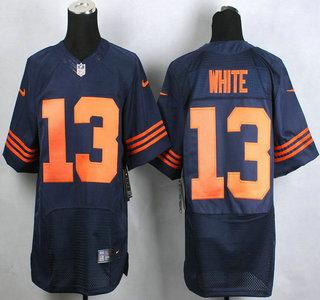 173f860b2 ... ireland best price nike chicago bears 13 kevin white blue with orange elite  jersey 61b14 35ed5
