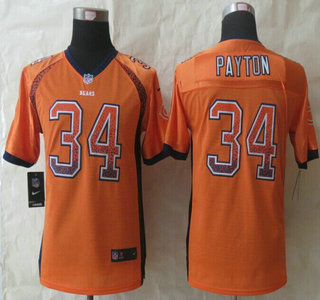 3ff08c73a7b ... ireland nike chicago bears 34 walter payton drift fashion orange elite  kids jersey 76797 6ac71