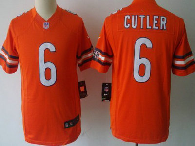 724ca3a37ed Nike Chicago Bears 6 Jay Cutler Orange Limited Kids Jersey