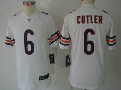 Nike Chicago Bears 6 Jay Cutler White Limited Kids Jersey bd1b024e4