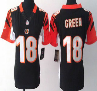 Nice Women's Cincinnati Bengals #18 A.J. Green White Pink 2016 Color Rush  for sale