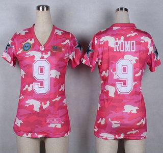 online store e0710 bedb8 Nike Dallas Cowboys #9 Tony Romo 2014 Salute to Service Pink ...