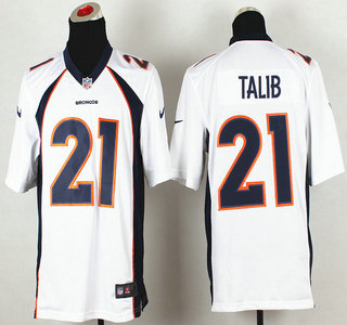 nike denver broncos 21 aqib talib 2013 new style white game jersey