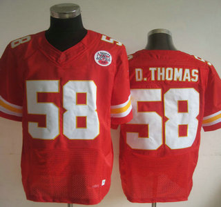 quality design 3d083 e89e6 Nike Kansas City Chiefs #58 Derrick Thomas Elite Red Jersey