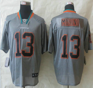 nfl jersey nike miami dolphins 13 dan marino 2013 new style lights out grey elite jersey