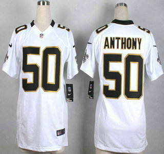 459ee9343e0 ... nike new orleans saints 50 stephone anthony white game womens jersey