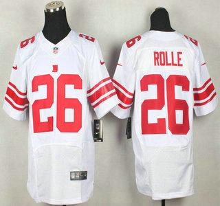 nike new york giants 26 antrel rolle elite white jersey