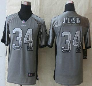 reputable site 02e1d 7e067 Nike Oakland Raiders #34 Bo Jackson Drift Fashion Grey Elite ...