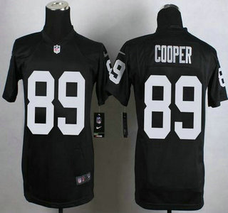 watch e76ac fd5be Nike Oakland Raiders #89 Amari Cooper Game Black Kids Jersey