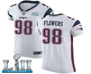 dabedcfe6 Nike Patriots  98 Trey Flowers White Super Bowl LII Men s Stitched NFL Vapor  Untouchable Elite