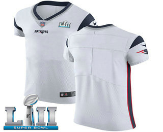 best loved 75fb5 971f5 Nike Patriots Blank White Super Bowl LII Men's Stitched NFL ...