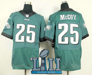 Nike Philadelphia Eagles  25 LeSean McCoy 2018 Super Bowl LII Patch Dark  Green Elite Jersey 68a5badf3