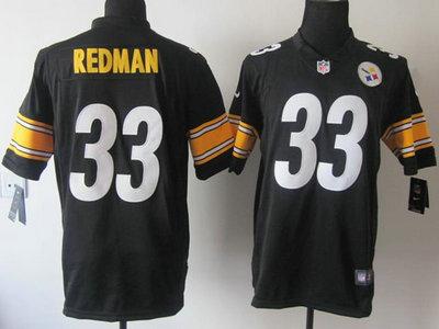 hot sale online 9799b 0f452 Nike Pittsburgh Steelers 33 Isaac Redman Black Game Jersey